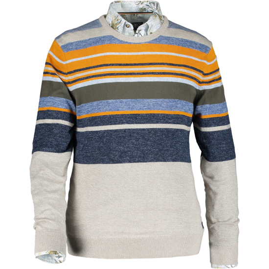 Pullover Crew-Neck Striped