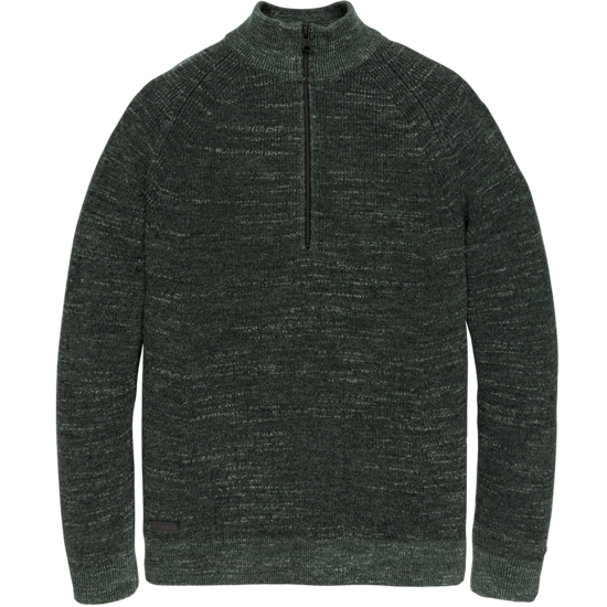 HALF ZIP COTTON MELANGE PLATED