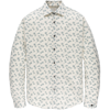 LONG SLEEVE SHIRT PRINT ON STRUCTURE DOBBY