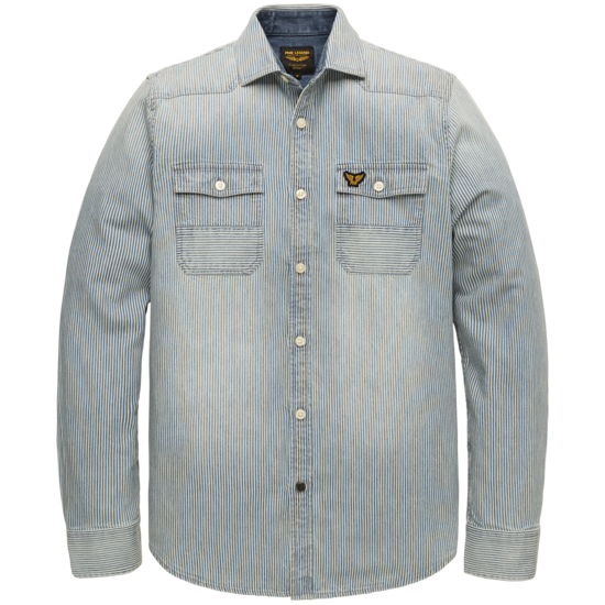 LONG SLEEVE SHIRT STRIPE DENIM FABRIC